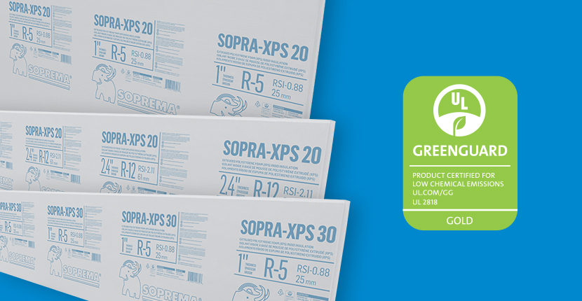 SOPRA-XPS: GREENGUARD CERTIFIED INSULATION